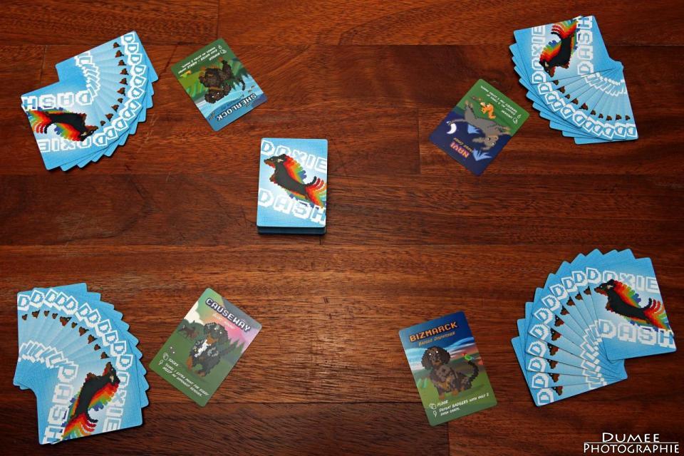 boardgame, dumeeple, doxie dash, mackerel sky games