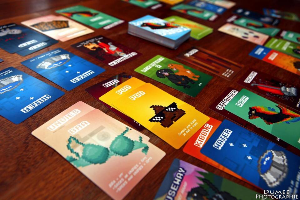 boardgame, dumeeple, doxie dash, mackerel sky games
