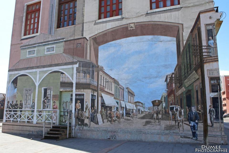 Wanderlust, travel, backpack, Chile, Antofagasta, mural